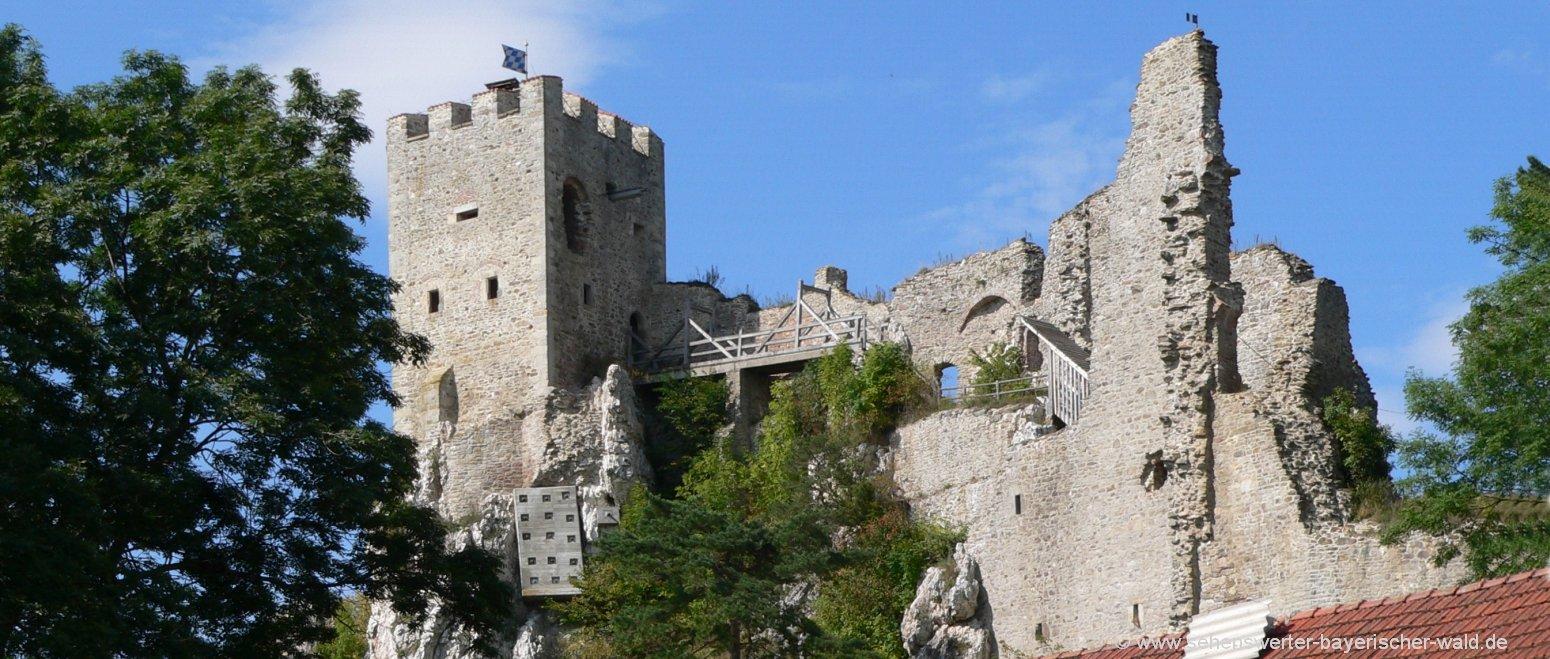 ausflugsziele-bayerischer-wald-burgruine-weissenstein